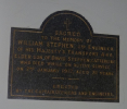 Memorial inside St. Philip's at Catterline in memory of WILLIAM STEPHEN 1917